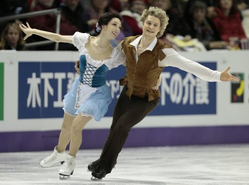 Meryl Davis and Charlie White of the US skate in the 2013 World Figure Skating Championships March 14, 2013