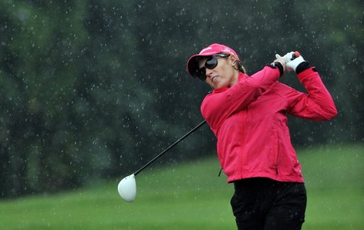 Natalie Gulbis plays during the Swinging Skirts 2012 World Ladies Masters in northern Taoyuan county on December 8, 2012