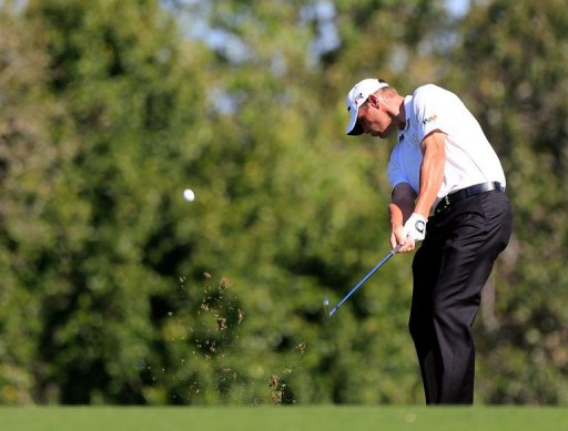 Shawn Stefani plays a shot on the 5th hole during the Tampa Bay Championship on March 15, 2013 in Palm Harbor, Florida