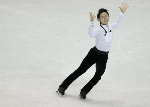 Denis Ten skates his men's free skate program, in London, Ontario, on March 15, 2013