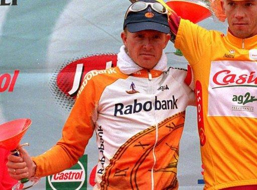 Rolf Soerensen (L) is pictured in Copenhagen on August 15, 1998