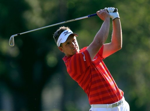 Luke Donald of England plays in the Tampa Bay Championship in Palm Harbor, Florida, on March 15, 2013