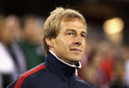 Jurgen Klinsmann during a friendly against Venezuela on January 21, 2012