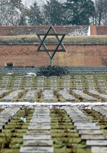 This file photo shows a Jewish graveyard in the Czech city of Terezin