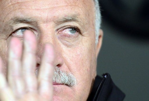 Brazilian head coach Luiz Felipe Scolari is pictured on March 21, 2013 at the stadium of Geneva