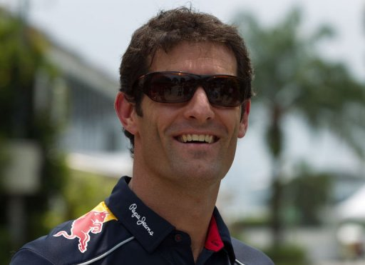 Red Bull driver Mark Webber of Australia is seen ahead of the Formula One Malaysian Grand Prix on March 21, 2013