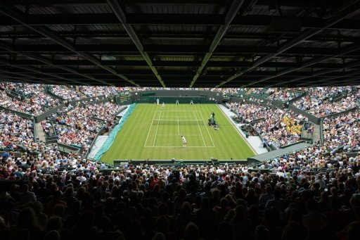 A view of Court One at the All England Tennis Club in Wimbledon, southwest London, on June 26, 2012