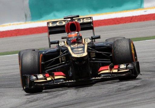 Lotus driver Kimi Raikkonen was hit by a three-place grid penalty at the Malaysian Grand Prix, Sepang, March 23, 2013