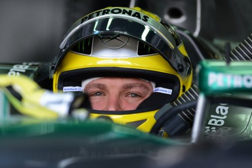 Mercedes driver Nico Rosberg of Germany in Sepang, Malaysia on March 23, 2013