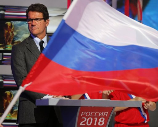 Russian national football team head coach Fabio Capello in Moscow on September 29, 2012