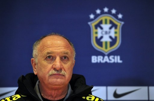 Brazil coach Luiz Felipe Scolari is pictured at a press conference in London on March 24, 2013