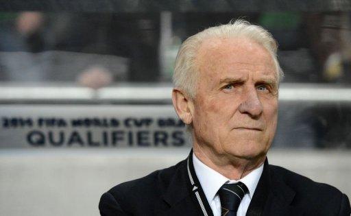Republic of Ireland head coach Giovanni Trapattoni looks on during Sweden vs Ireland in Solna on March 22, 2013