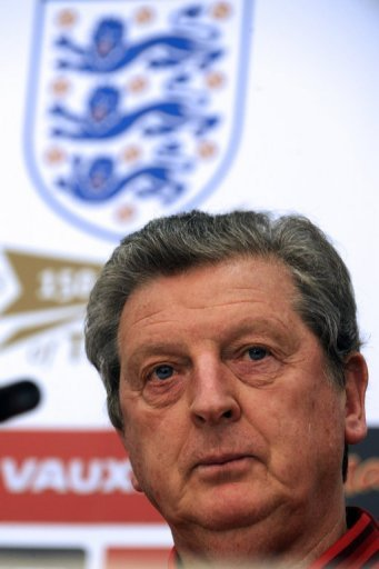 England coach Roy Hodgson gives a press conference in Podgorica on March 25, 2013