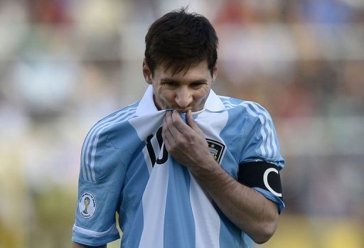 Argentina's Lionel Messi during the World Cup qualifier against Bolivia on March 26, 2013