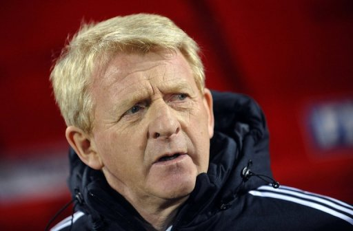 Scotland head coach Gordon Strachan during the World Cup qualifier at Serbia on March 26, 2013