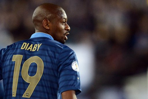 French midfielder Abou Diaby is pictured on September 7, 2012 at the Olympic Stadium in Helsinki