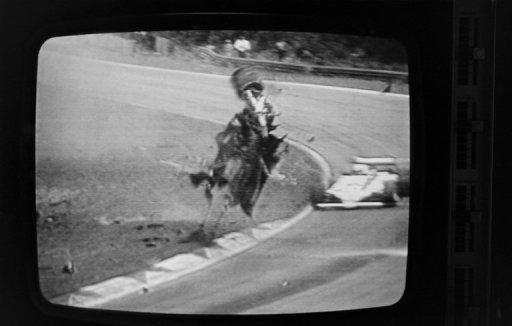 This screen grab from TF1 shows the crash that killed Gilles Villeneuve on May 8, 1982