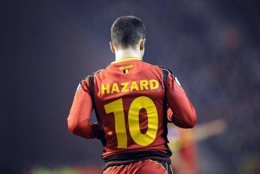 Belgium midfielder Eden Hazard during the World Cup qualifying match against Macedonia on March 26, 2013