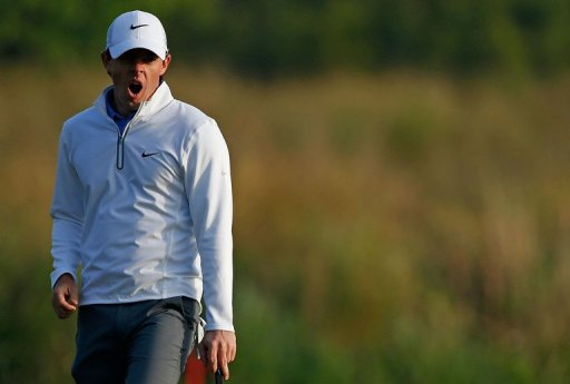 Rory McIlroy yawns during the second round of the Houston Open on March 29, 2013