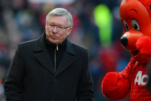 Alex Ferguson takes his seat before the FA Cup quarter-final clash with Chelsea at Old Trafford on March 10, 2013