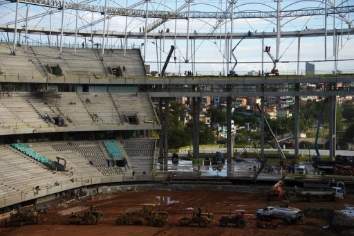 The Fonte Nova stadium in Salvador de Bahia, Brazil, is pictured on December 6, 2012