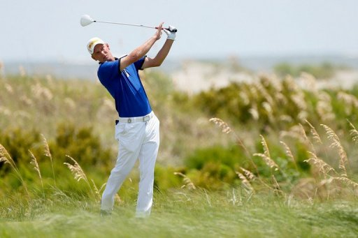 Marcel Siem of Germany hits off the sixth tee at the Ocean Course on August 12, 2012, in South Carolina