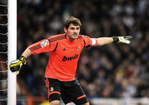 Real Madrid goalkeeper and captain Iker Casillas during a Spanish Copa del Rey match on January 15, 2013