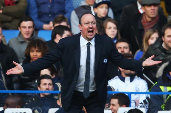 Rafa Benitez has cut a lonely figure this season at Chelsea