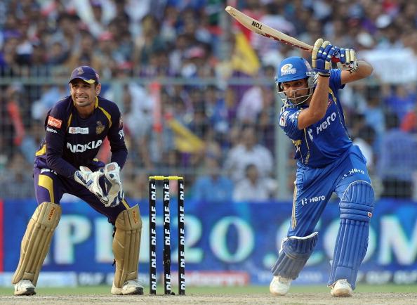 Mumbai Indians batsman Rohit Sharma is w