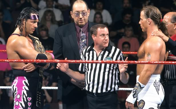 Shawn Michaels defeated Bret Hart