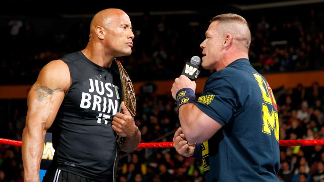 The Rock and John Cena in a verbal war