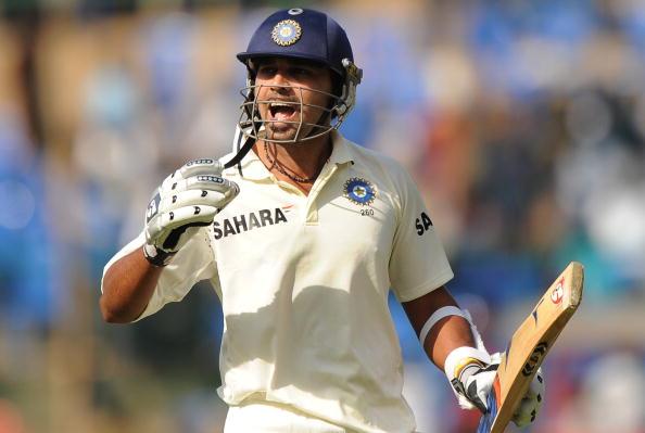 Indian cricketer Murli Vijay reacts as h