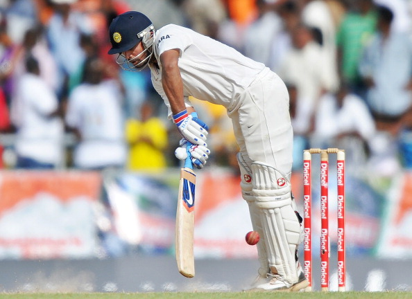 Indian cricketer Murali Vijay plays a sh