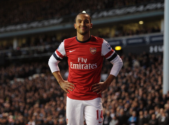 LONDON, ENGLAND - MARCH 03:  Theo Walcott of Arsenal during the Barclays Premier League match between Tottenham Hotspur and Arsenal at White Hart Lane