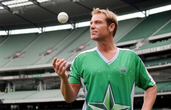 Australian cricketer Shane Warne poses f
