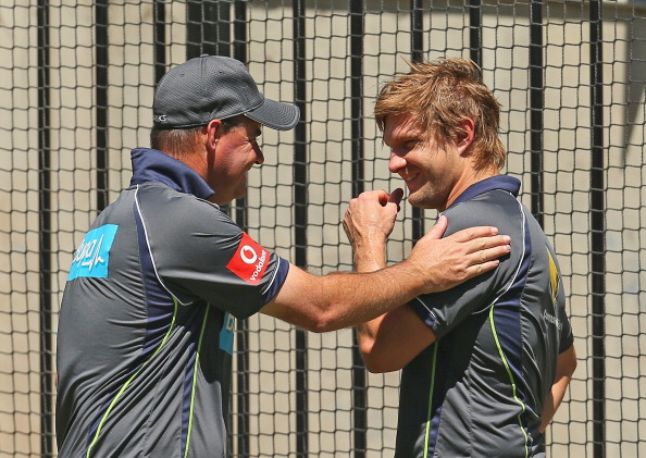 Happier times: Micky Arthur and Shane Watson