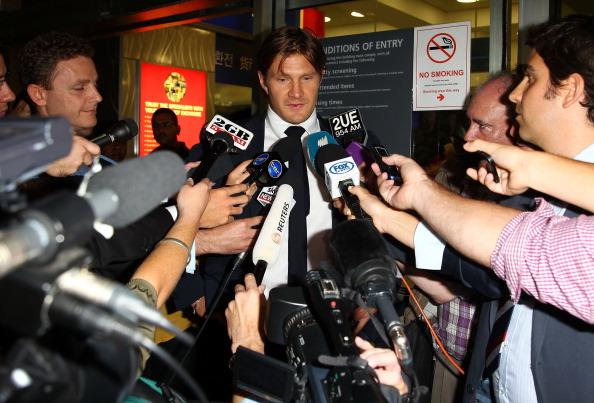 Shane Watson Airport Arrival