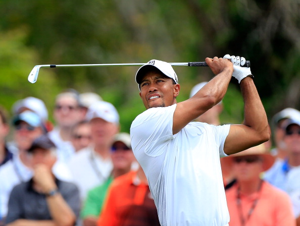 ORLANDO, FL - MARCH 23:  Tiger Woods plays a shot on the 7th hole during the third round of the Arnold Palmer Invitational
