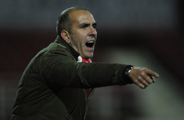 Manager of Swindon Town, Paolo Di Canio gives instructions during the npower League One match between Swindon Town and Tranmere Rovers at the County Ground on December 21, 2012 in Swindon, England.  (Photo by Jamie McDonald/Getty Images)