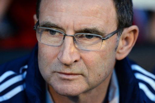 Martin O'Neill at the Premier League match between Fulham and Sunderland at Craven Cottage, London on November 18, 2012