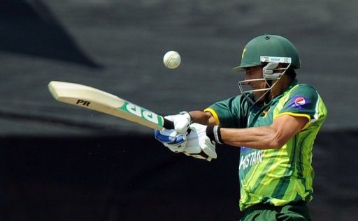Pakistan's cricketer Younis Khan plays a  shot at Willowmoore Park on March 24, 2013