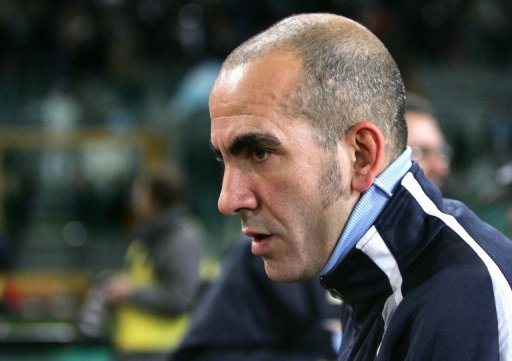 Paolo Di Canio is pictured at Rome's Olympic stadium on December 17, 2005