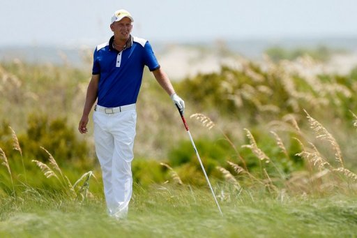 Marcel Siem of Germany hits off the sixth tee at the Ocean Course on August 12, 2012 in Kiawah Island, South Carolina