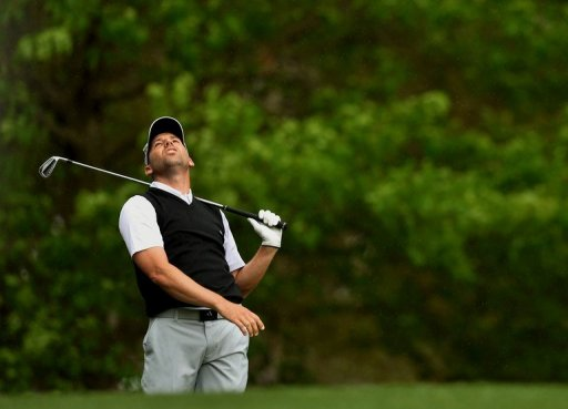 Sergio Garcia of Spain plays during the second round of the 77th Masters, April 12, 2013 in Augusta, Georgia
