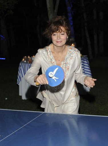Susan Sarandon attends Grey Goose Vodka's Inaugural Blue Door Series With SPiN Galactic, in New York, on August 5, 2011