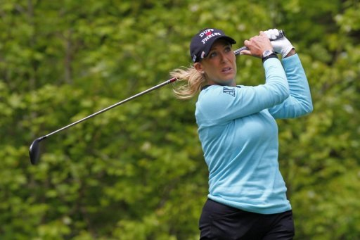 Cristie Kerr hits her tee shot on the sixth hole during the final round of the Kingsmill Championship on May 5, 2013