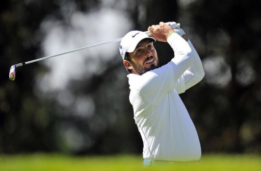 Francesco Molinari during the first round of thePGA Championship at Wentworth Golf Club in Surrey, on May 23, 2013