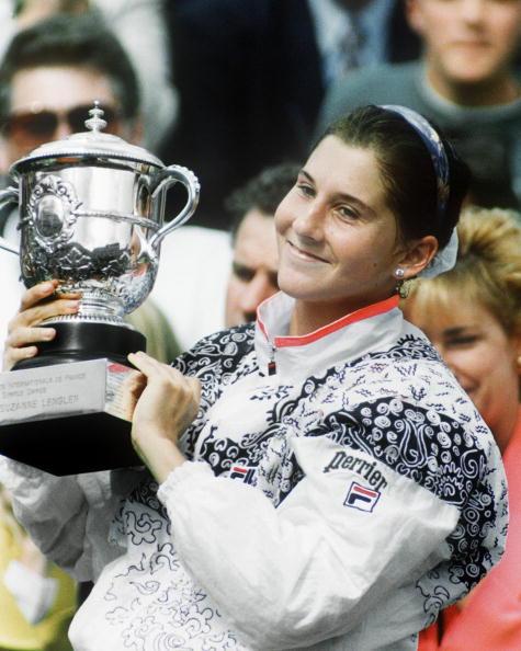 Yugoslavian tennis player Monica Seles is all smil