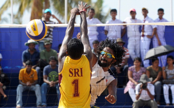 Sri Lanka and Maldives volleyball team p