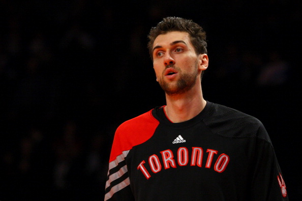 Andrea Bargnani: the Italian is headed for New York from Toronto in exchange for three players and three picks. (Getty Images)